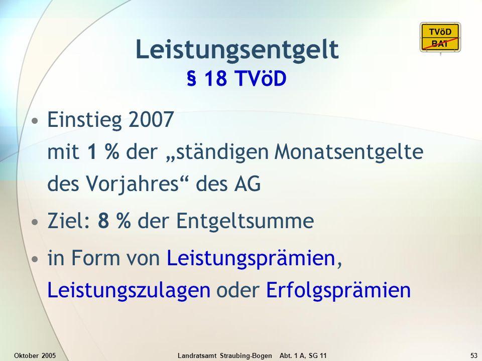 Leistungsentgelt § 18 TVöD