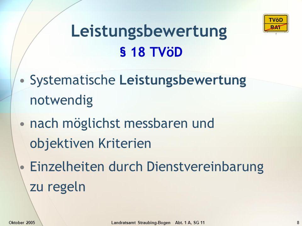 Leistungsbewertung § 18 TVöD