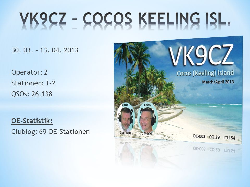 VK9CZ – COCOS KEELING ISL.