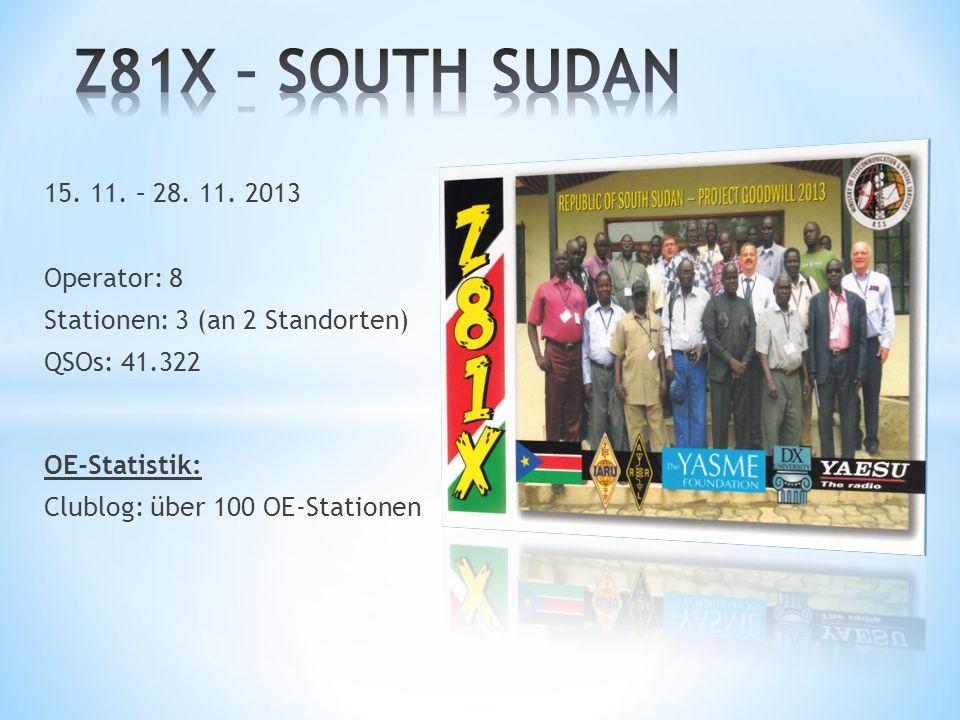 Z81X – SOUTH SUDAN 15. 11. – 28. 11. 2013 Operator: 8