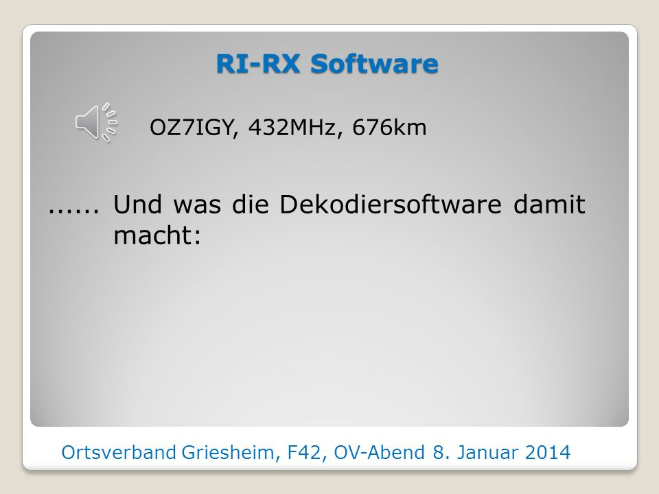 Ortsverband Griesheim, F42, OV-Abend 8. Januar 2014