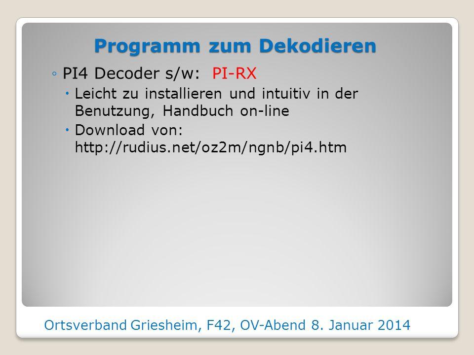 Programm zum Dekodieren