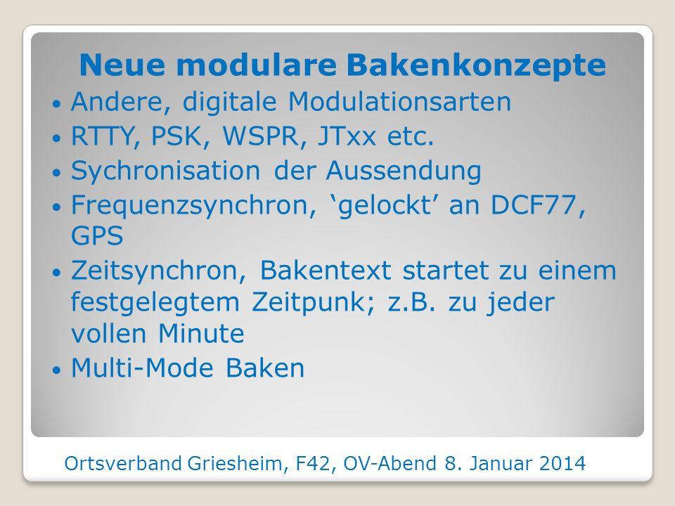 Neue modulare Bakenkonzepte