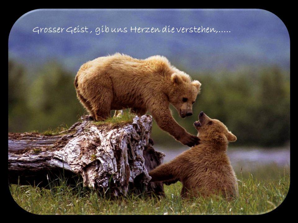 Grosser Geist , gib uns Herzen die verstehen,…..