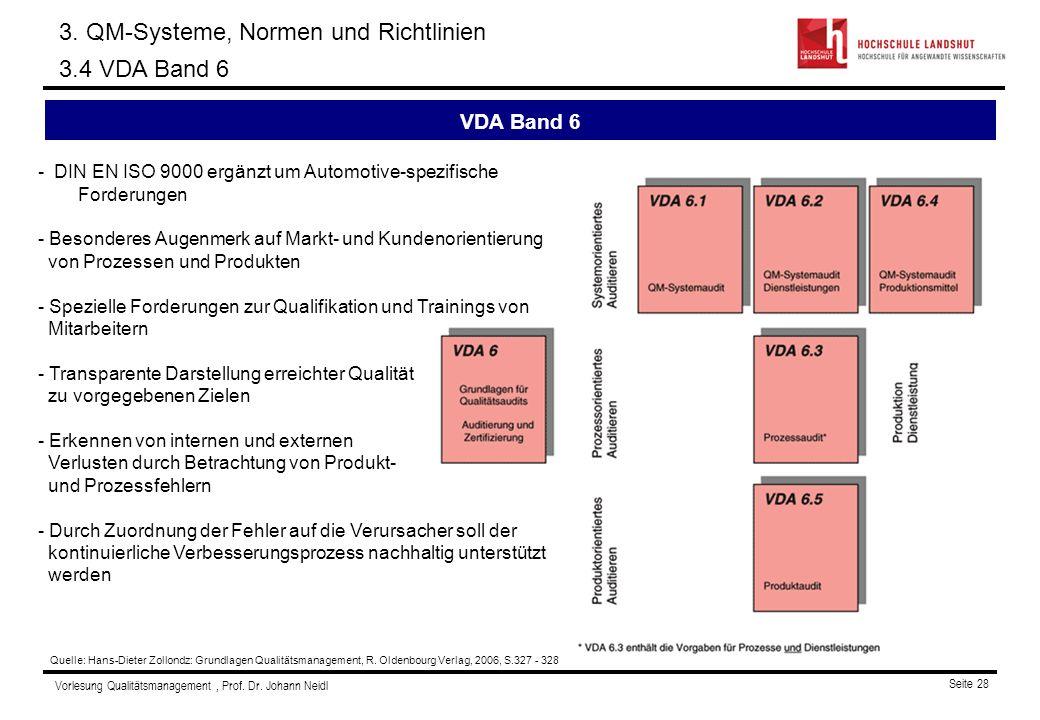 3. QM-Systeme, Normen und Richtlinien 3.4 VDA Band 6