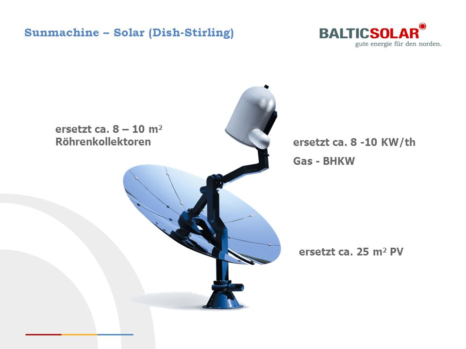 Sunmachine – Solar (Dish-Stirling)