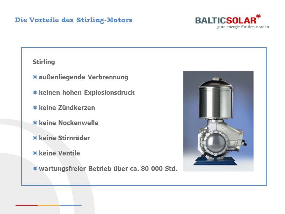 Die Vorteile des Stirling-Motors