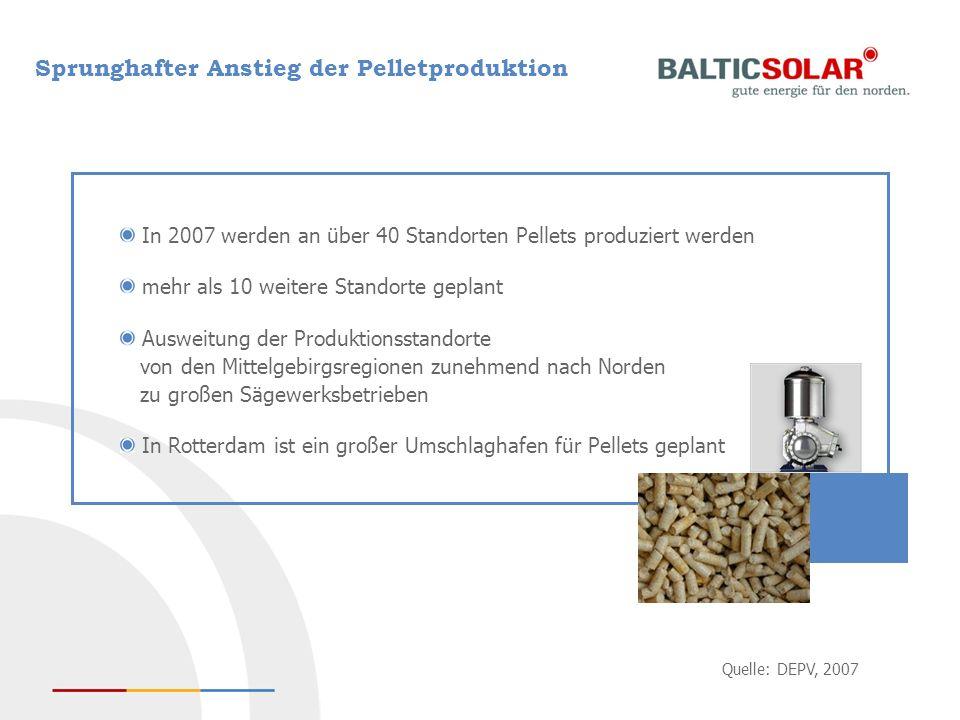 Sprunghafter Anstieg der Pelletproduktion