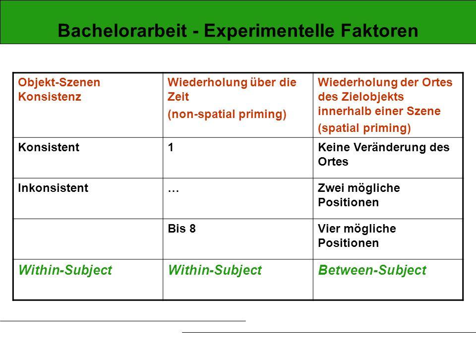 Bachelorarbeit - Experimentelle Faktoren