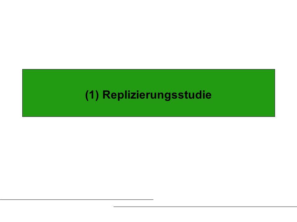 (1) Replizierungsstudie
