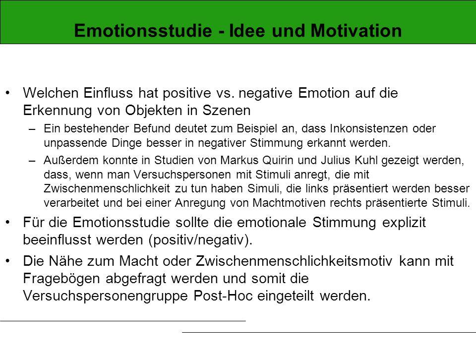 Emotionsstudie - Idee und Motivation