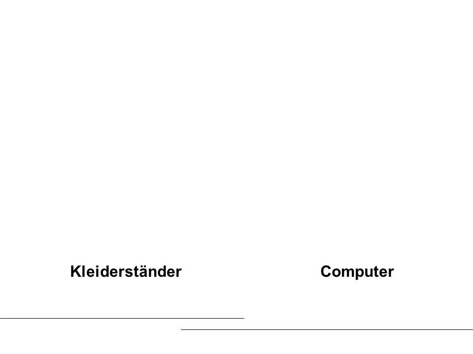 Kleiderständer Computer