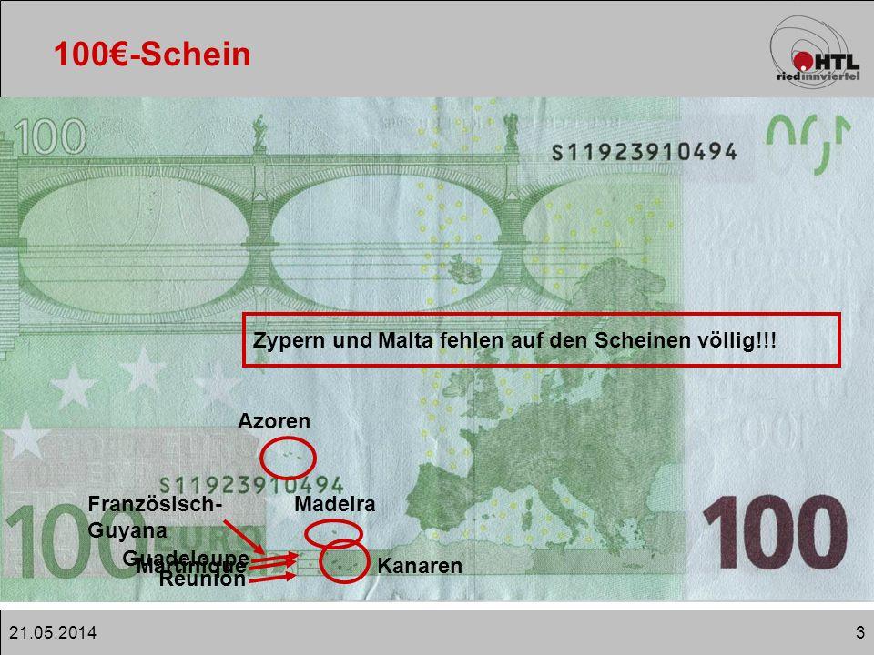 100€-Schein Zypern und Malta fehlen auf den Scheinen völlig!!! Azoren