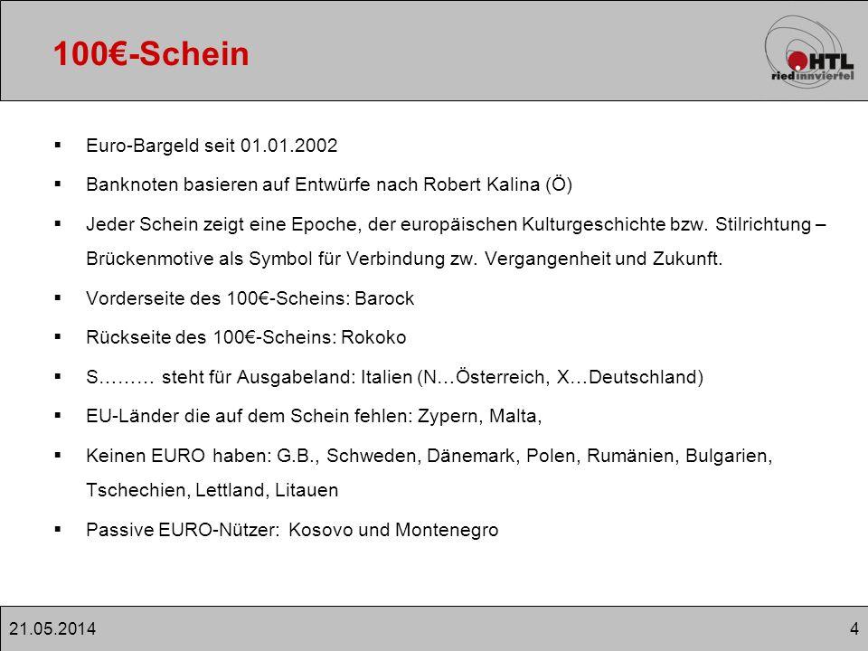 100€-Schein Euro-Bargeld seit 01.01.2002