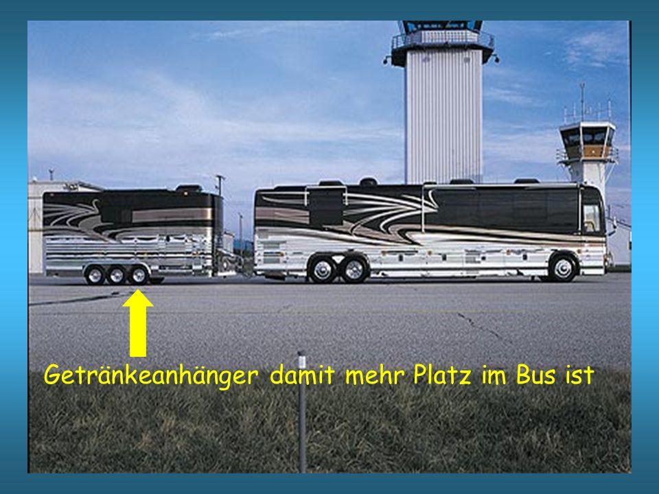 Getränkeanhänger damit mehr Platz im Bus ist
