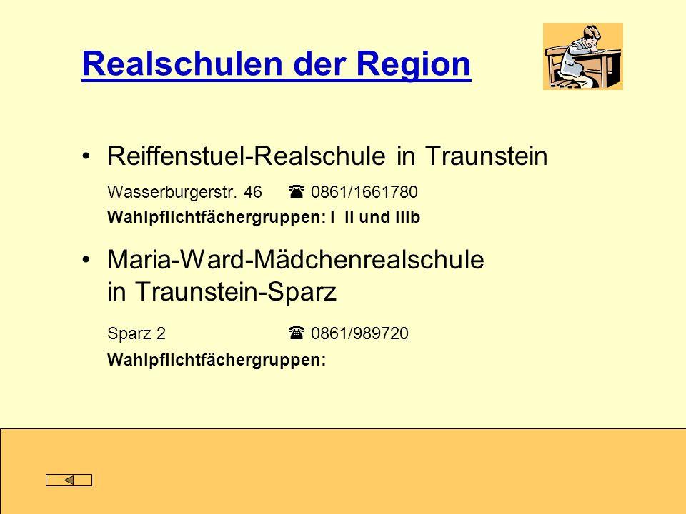 Realschulen der Region