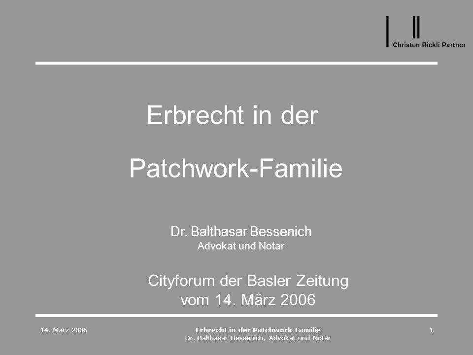 Erbrecht in der Patchwork-Familie
