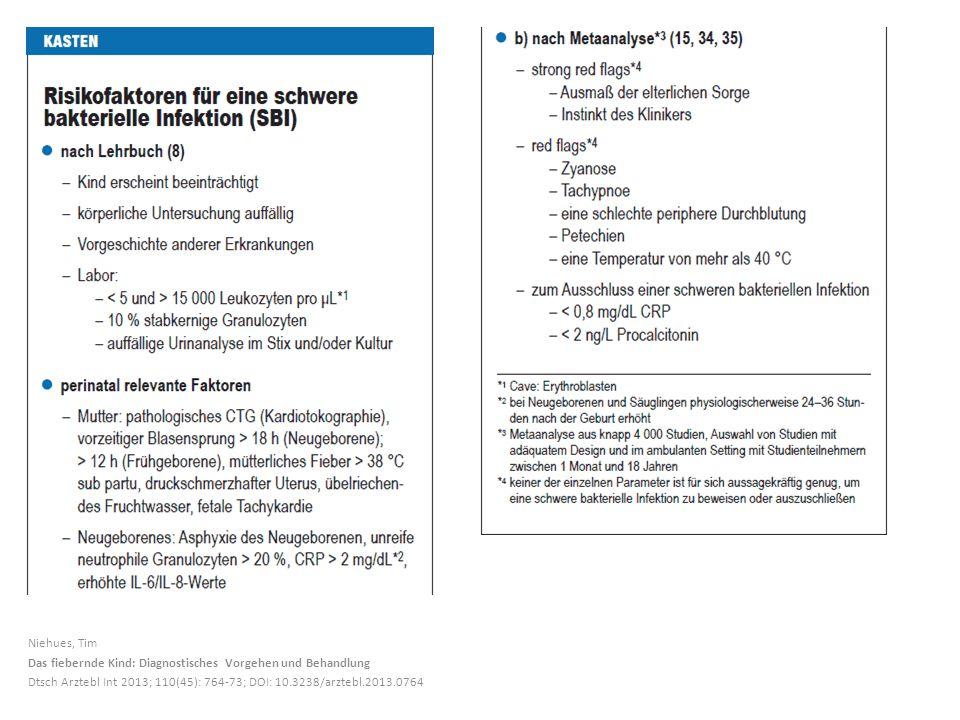 Niehues, Tim Das fiebernde Kind: Diagnostisches Vorgehen und Behandlung.