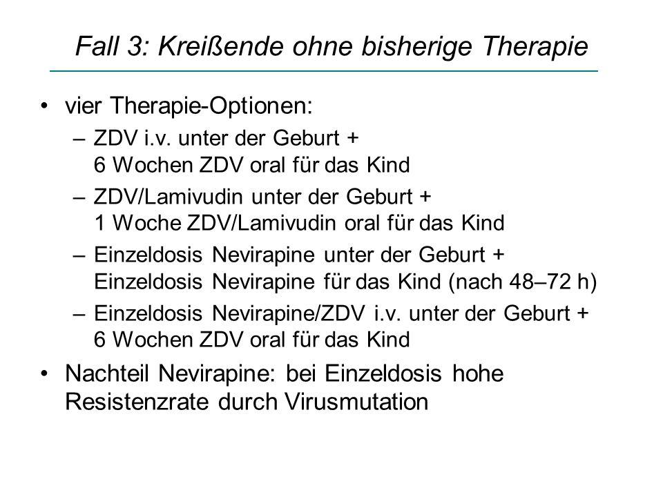 Fall 3: Kreißende ohne bisherige Therapie