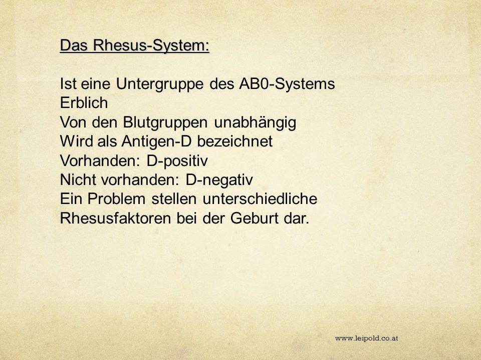 Ist eine Untergruppe des AB0-Systems Erblich