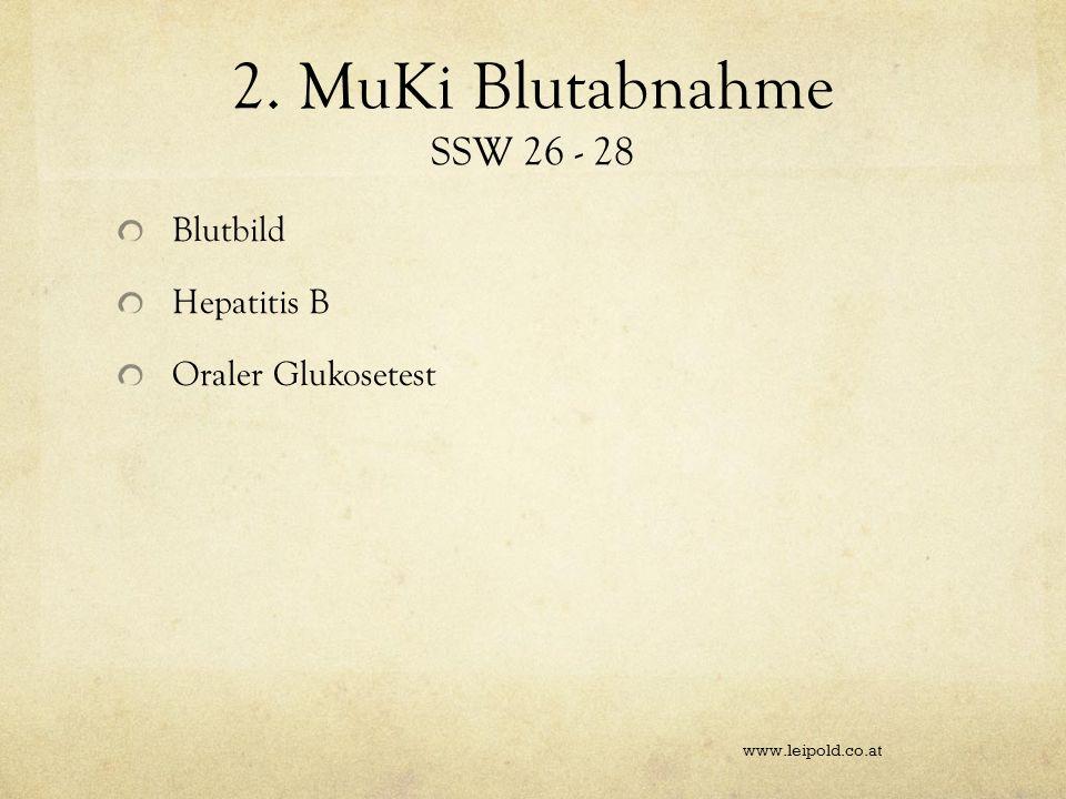 2. MuKi Blutabnahme SSW 26 - 28 Blutbild Hepatitis B