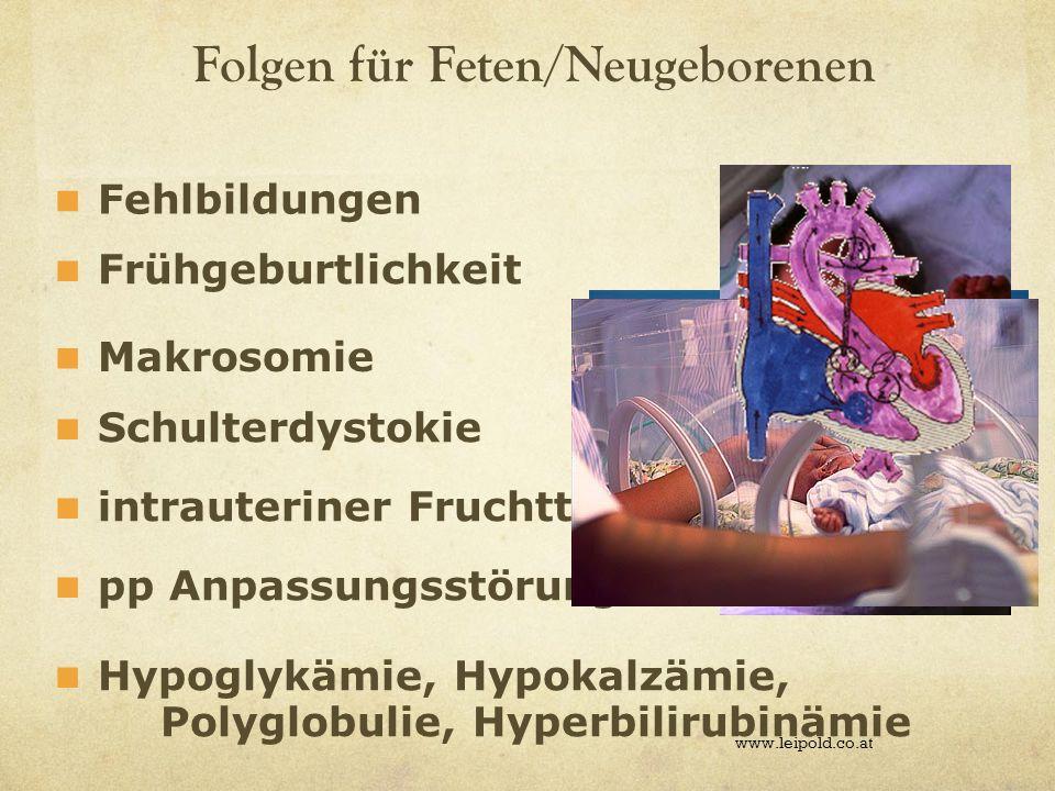 Folgen für Feten/Neugeborenen