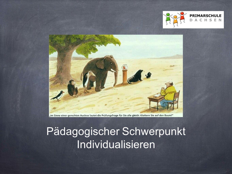 Pädagogischer Schwerpunkt Individualisieren