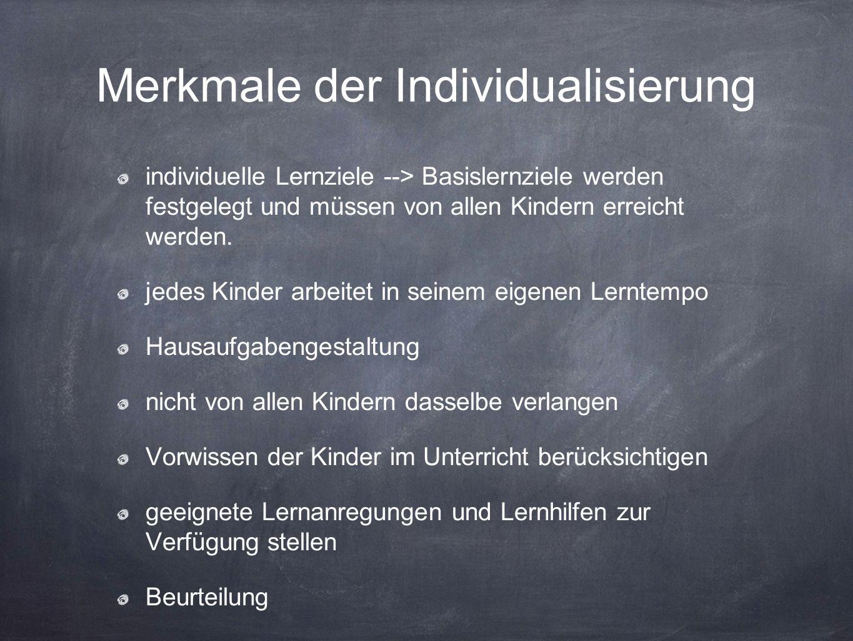 Merkmale der Individualisierung