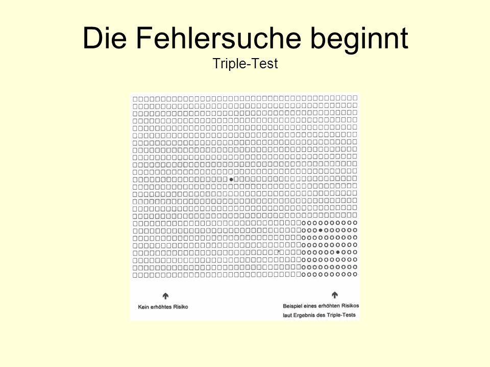 Die Fehlersuche beginnt Triple-Test