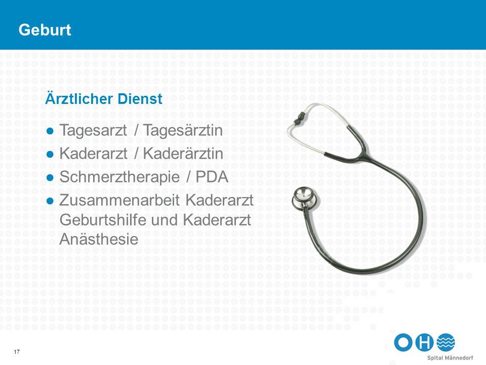 Tagesarzt / Tagesärztin Kaderarzt / Kaderärztin Schmerztherapie / PDA