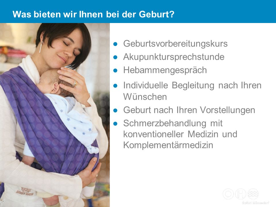 Was bieten wir Ihnen bei der Geburt