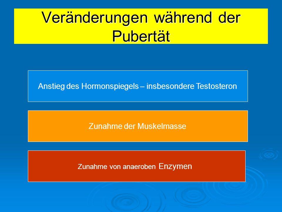 Veränderungen während der Pubertät