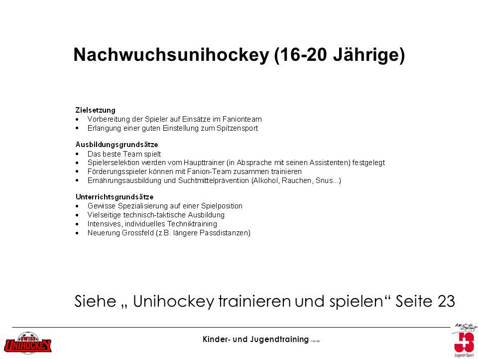 Nachwuchsunihockey (16-20 Jährige)