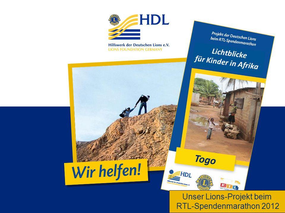 Unser Lions-Projekt beim RTL-Spendenmarathon 2012