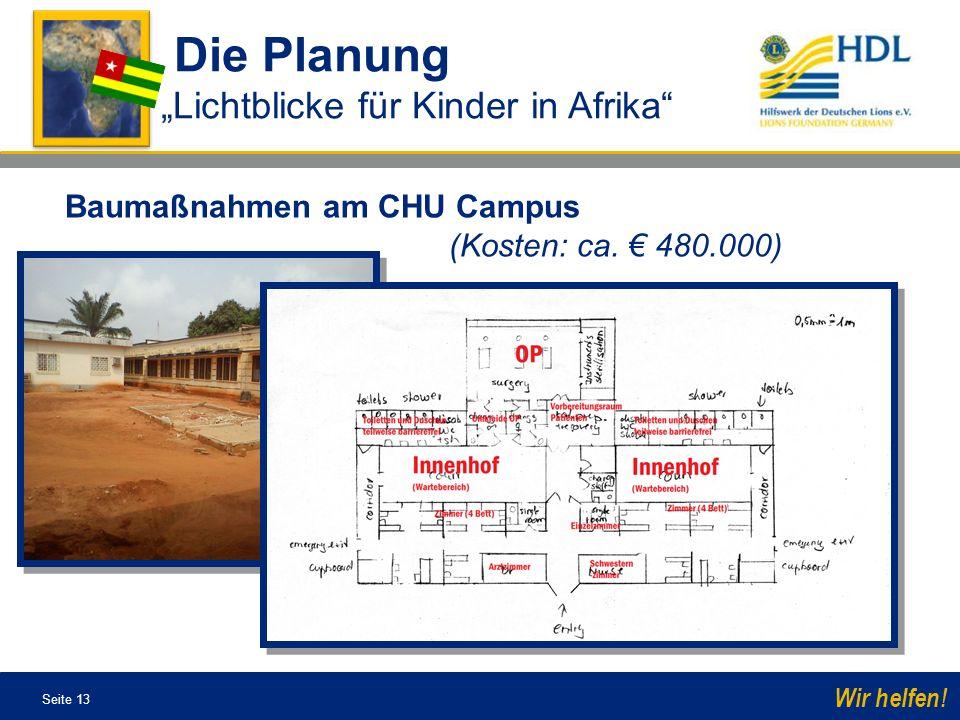 """Die Planung """"Lichtblicke für Kinder in Afrika"""