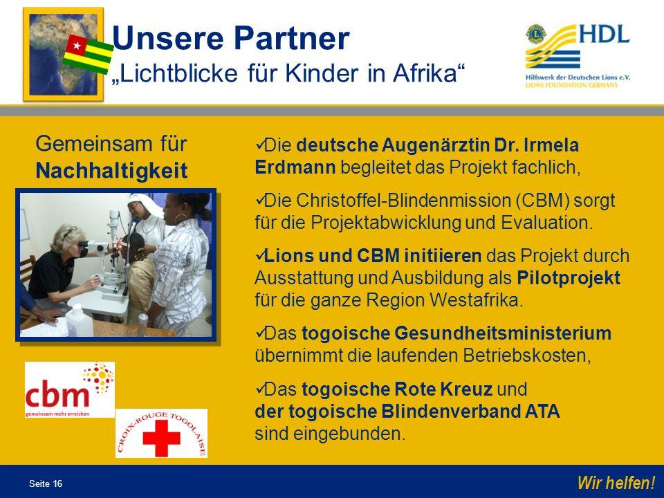 """Unsere Partner """"Lichtblicke für Kinder in Afrika"""
