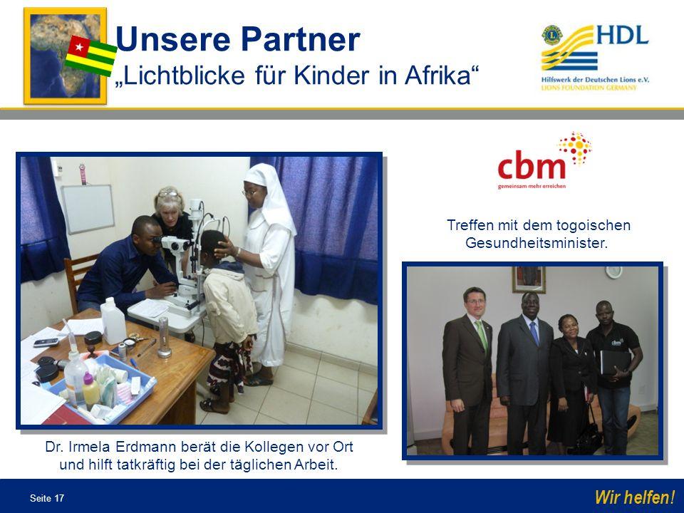 Treffen mit dem togoischen Gesundheitsminister.