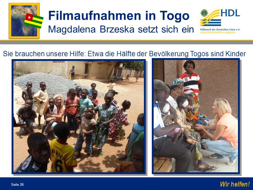 Filmaufnahmen in Togo Magdalena Brzeska setzt sich ein