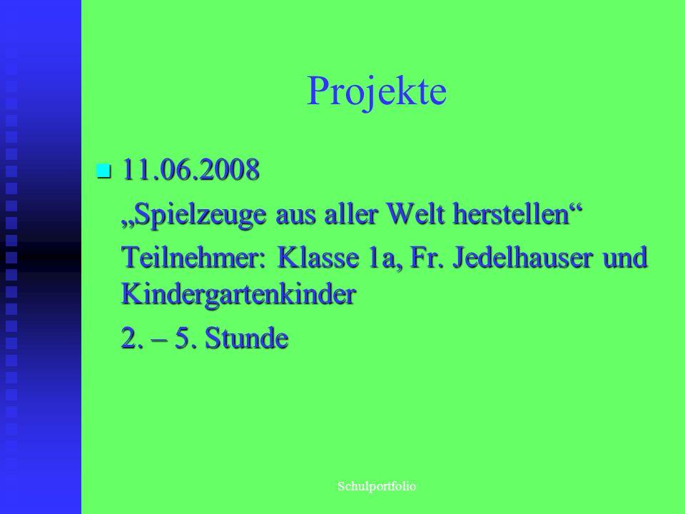 """Projekte 11.06.2008 """"Spielzeuge aus aller Welt herstellen"""