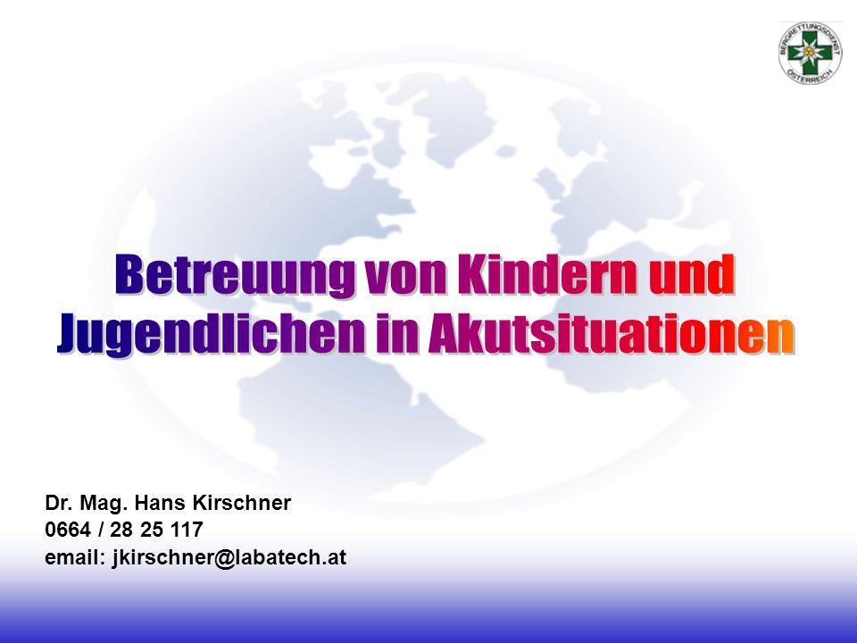 Betreuung von Kindern und Jugendlichen in Akutsituationen