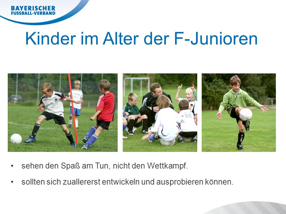 Kinder im Alter der F-Junioren