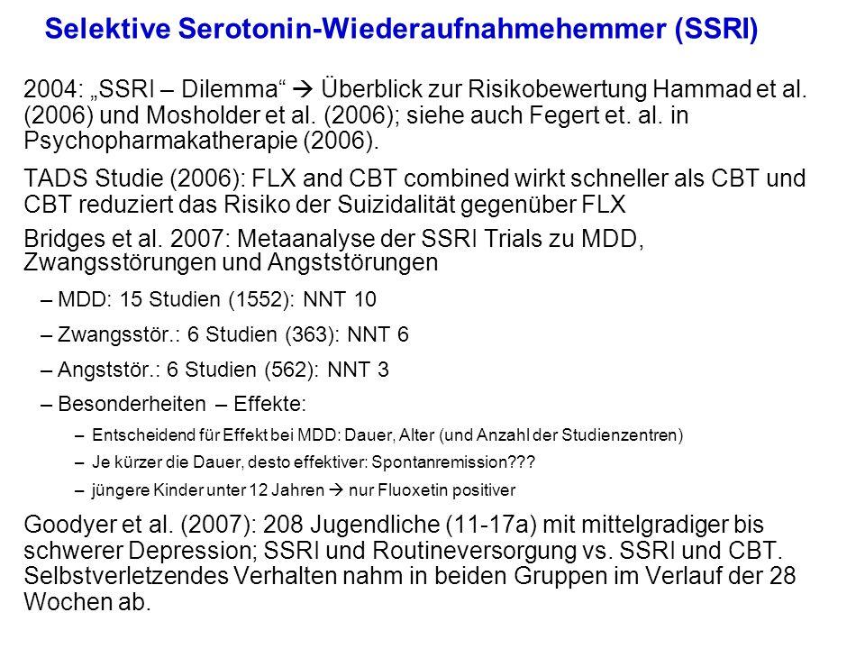 Selektive Serotonin-Wiederaufnahmehemmer (SSRI)