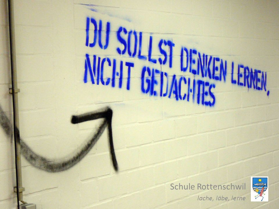 Schule Rottenschwil lache, läbe, lerne