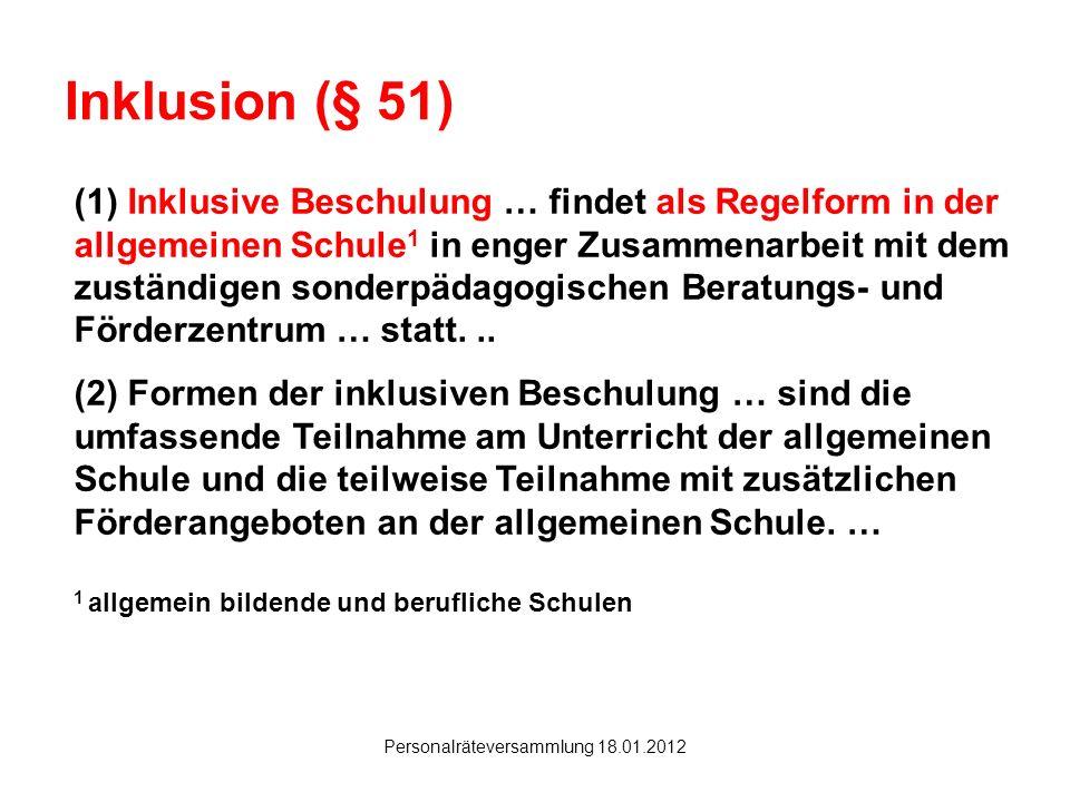 Personalräteversammlung 18.01.2012