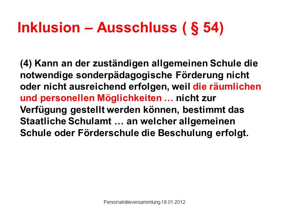 Inklusion – Ausschluss ( § 54)