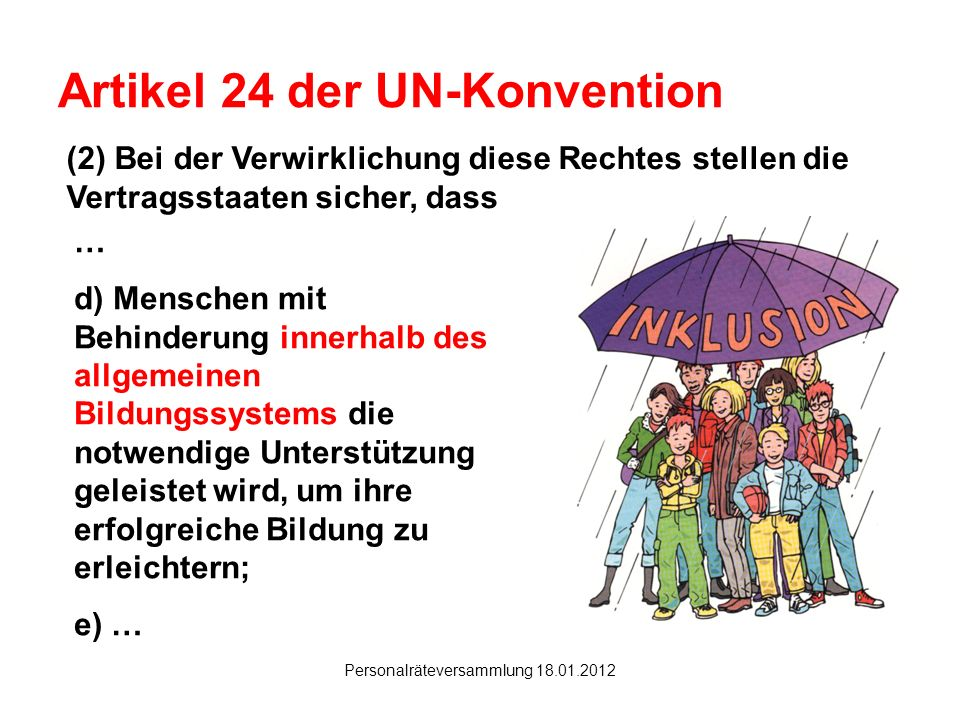 Artikel 24 der UN-Konvention