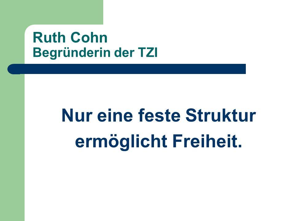 Ruth Cohn Begründerin der TZI