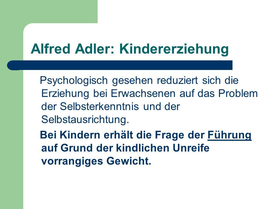Alfred Adler: Kindererziehung