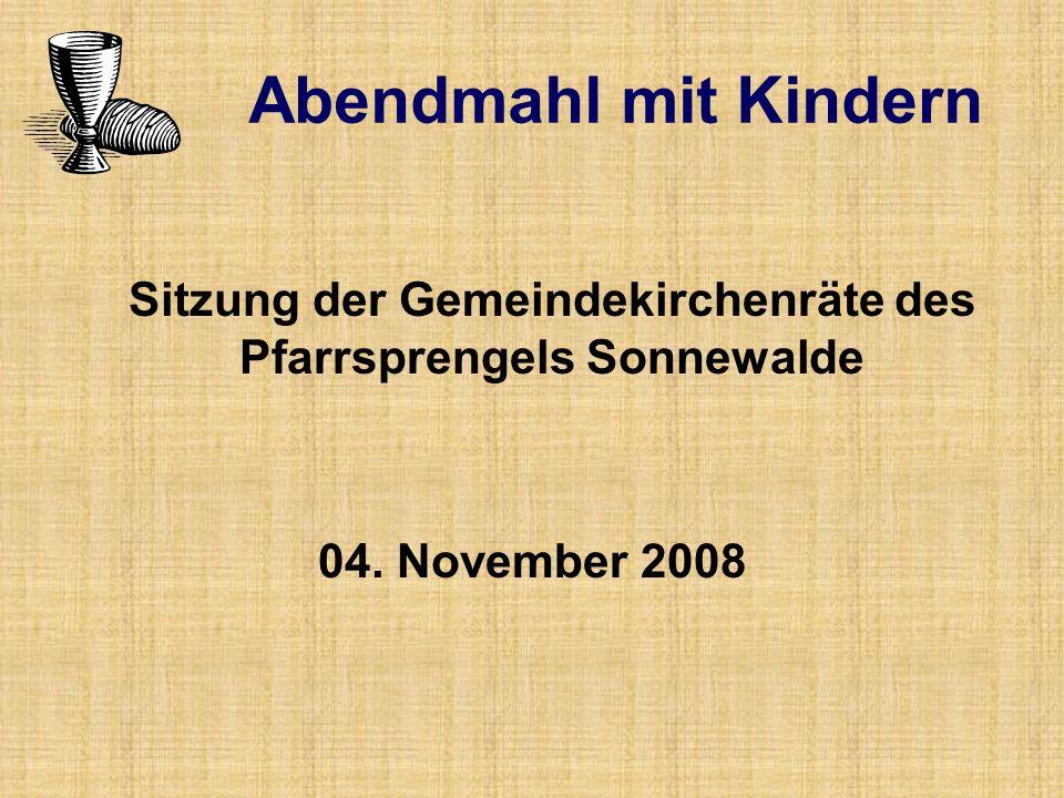 Sitzung der Gemeindekirchenräte des Pfarrsprengels Sonnewalde
