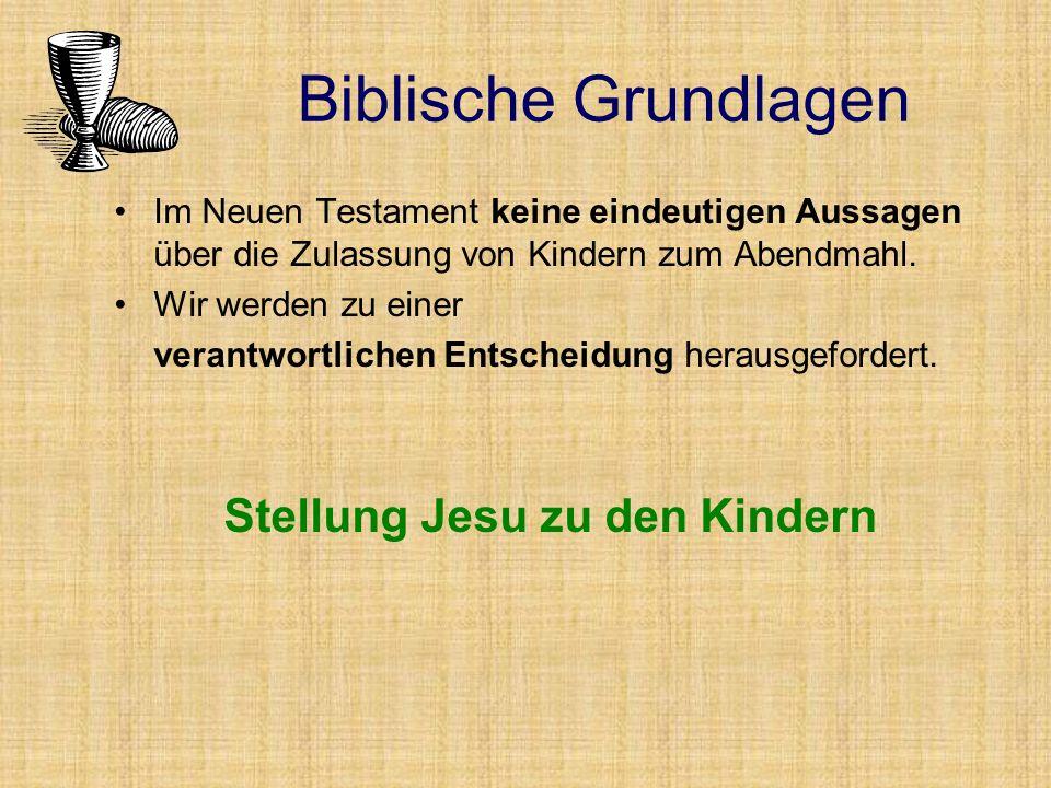 Stellung Jesu zu den Kindern